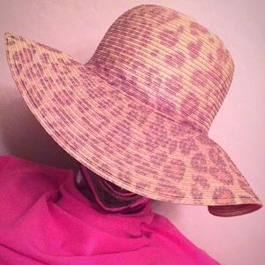 🆕 ONLY ONE! Animal Print Straw Hat